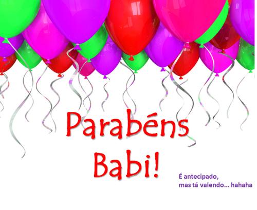 parabéns babi